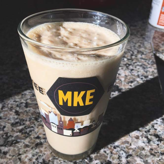 Peanut butter, banana and coffee smoothie // Run. Crave. Conquer. blog