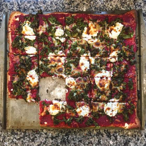 Beet Pesto Pizza // Run. Crave. Conquer. blog
